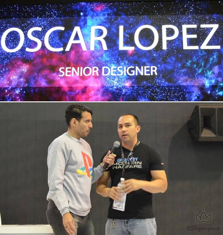 Oscar Lopez - Senior Designer de Call of Dutty Modern Warframe! #bgs2019