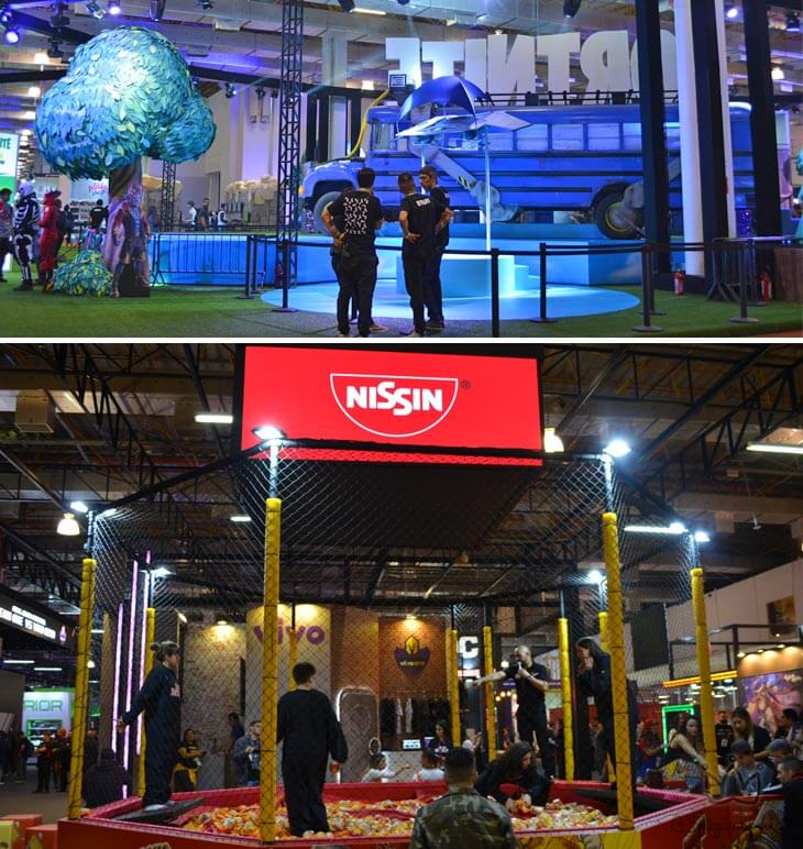 Fortnite e Nissin presentes na BGS 2019