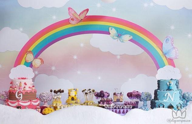 Festa Lúdica com Fadas, Unicórnios e Arco-íris